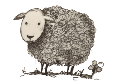 Sheep in Solitude – Sunday Hour Logo